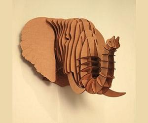 Large Elephant Cardboard Sculpture :: HowToGoBroke.com :: Offering ...